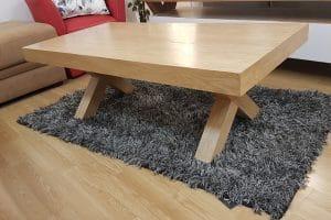 שולחן סלון רגל X